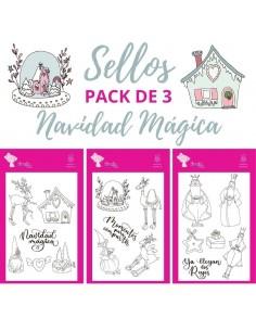 PACK 3 SELLOS - NAVIDAD MÁGICA