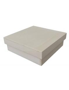 Caja de chopo 14x14x4 cm