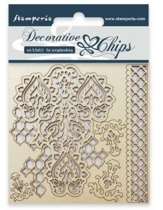 Decorative chips cm 9,5x9,5 Amor