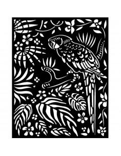 Stencil grueso 20x25 cm - Amazonia animalier with tribales