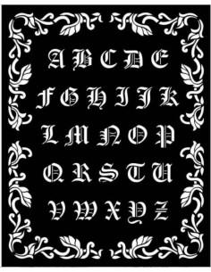 Stencil grueso 20x25 cm - Sleeping Beauty alfabeto