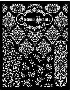 Stencil grueso 20x25 cm - Sleeping Beauty texturas