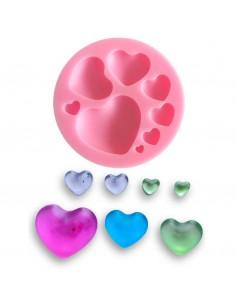 Molde silicona 8 corazones