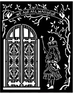 Stencil grueso 20x25 cm - Alice puerta