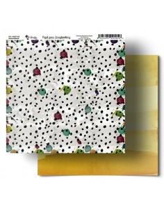 Acuarela amarillo Amelie Papel Scrapbooking 035
