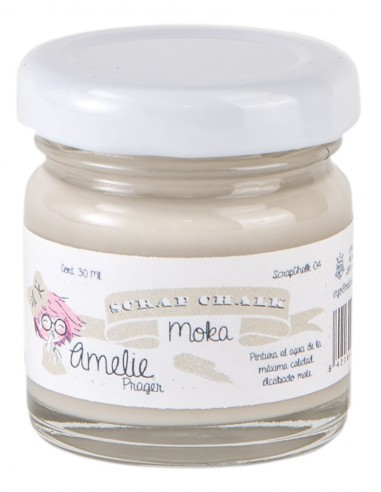 30ml Pintura Tiza Chalk Paint 04 Moka Amelie Prager