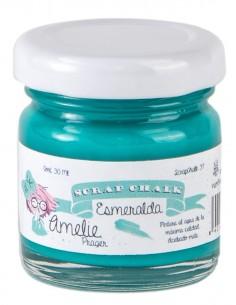 30ml Pintura Tiza Chalk Paint 37 Esmeralda Amelie Prager