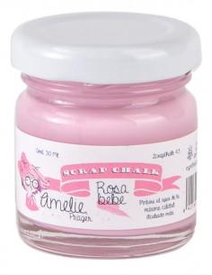 30ml Pintura Tiza Chalk Paint 43 Rosa Bebe Amelie Prager
