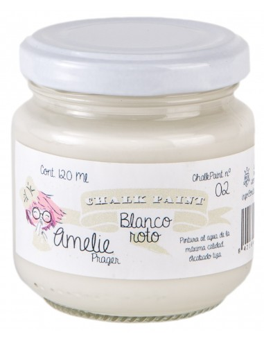 Amelie Chalk Paint 02 Blanco Roto 120ml