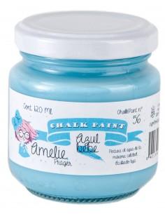 120ml Pintura Tiza Chalk Paint 56 Azul bebe Amelie Prager