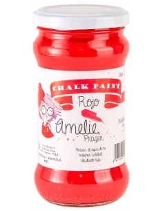 280ml Pintura Tiza Chalk Paint 51 Rojo Amelie Prager
