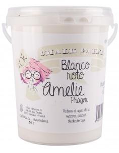 1 Litro Pintura Tiza Chalk Paint 02 Blanco Roto Amelie Prager