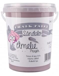 1 Litro Pintura Tiza Chalk Paint 12 Sándalo Amelie Prager