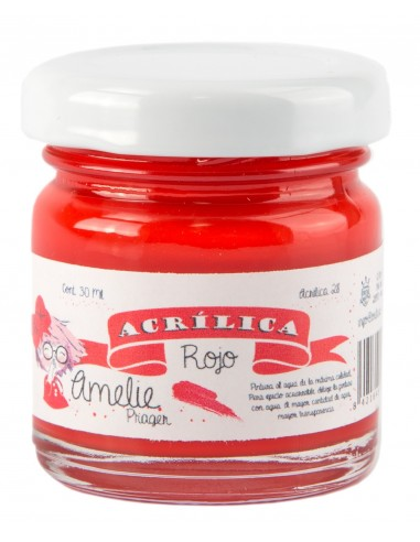 Amelie Acrílico 28 Rojo. 30 ml