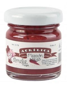 Amelie Acrílico 31 Marron Rojizo. 30 ml